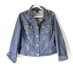 Lane Bryant Jean Jacket EUC!